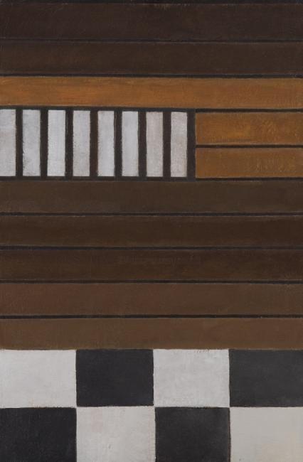 Georges Troubat - Composition abstraite 08 - marron gris noir 81