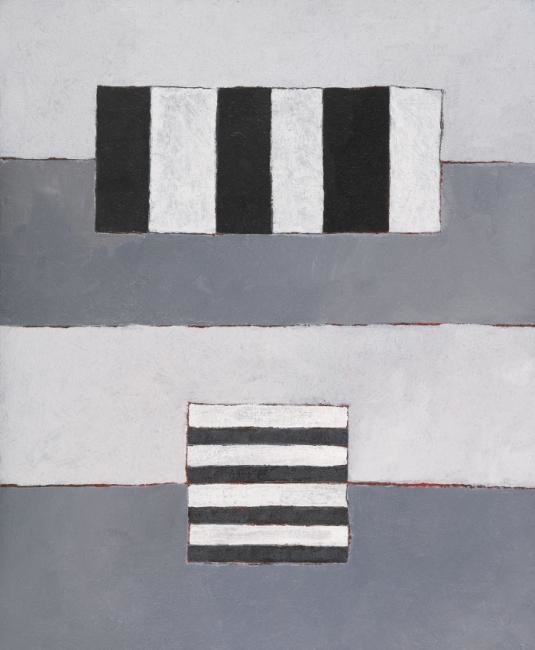 Georges Troubat - Composition abstraite 08 - gris blanc noir 65