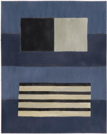 Compositionabstraite 08 - bleu noir beige 47