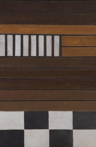 Composition abstraite 08 - marron gris noir 81