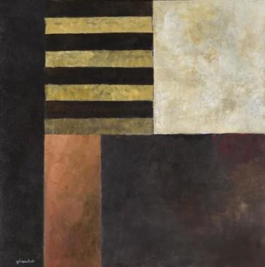 Composition abstraite 08 - ocre et brun 100