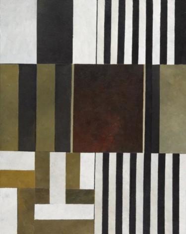 composition abstraite 08 - beige et rouge 92