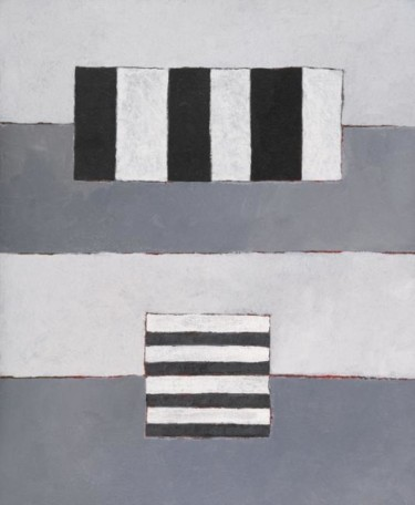 Composition abstraite 08 - gris blanc noir 65
