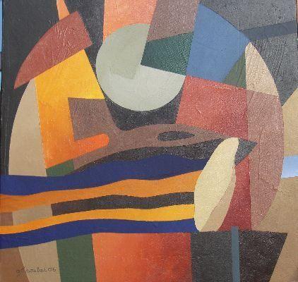 50 x 50 cm  NASCA, acrylique sur toile abstraction géométrique,  galerie,  exposition,  peintures,  oeuvres sur papier,  tecnique mixte acrylique