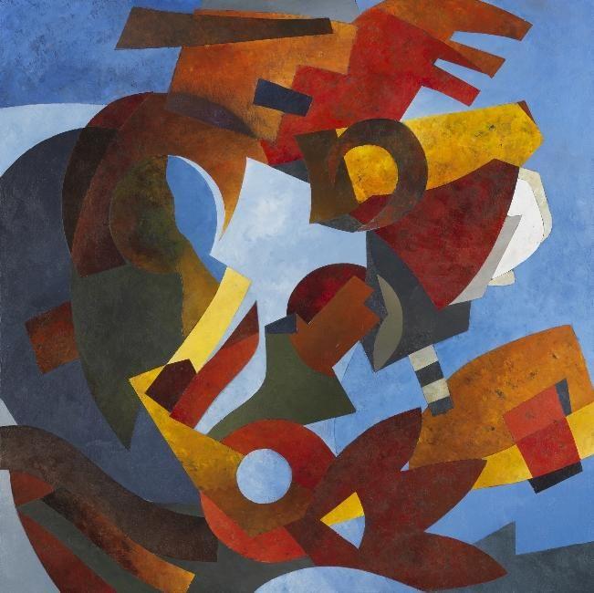 AINSI VOLENT LES COULEURS 100 X 100 cm acrylique/toile 2011. Harmonie,  abstraction,  abstrait,  lyrique,  couleur,